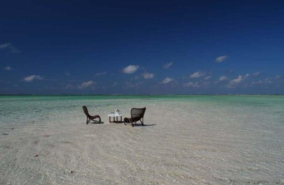 Beach relaxed