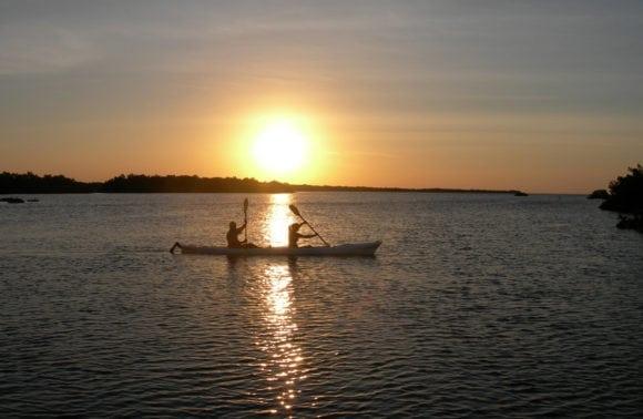 Ibo Island 022 Sunset guided kayaking