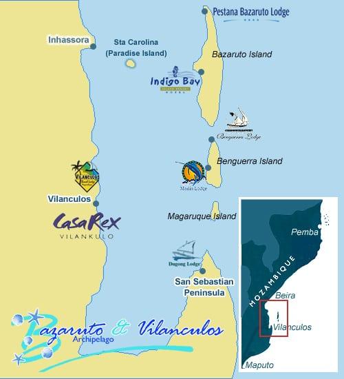 Vilanculos Map