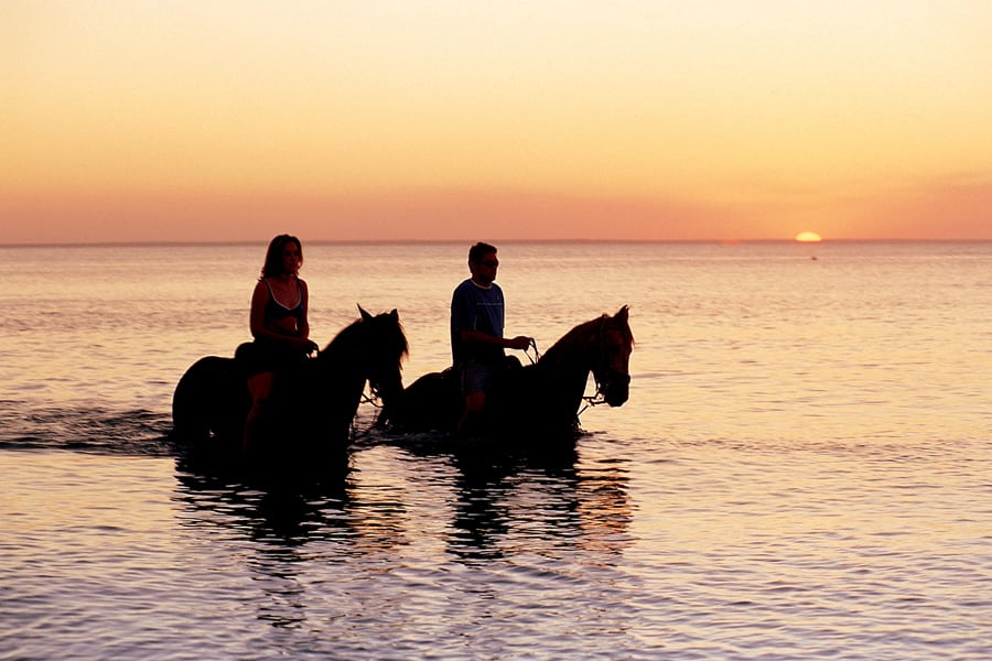 Anantara Bazaruto horse riding at sunset