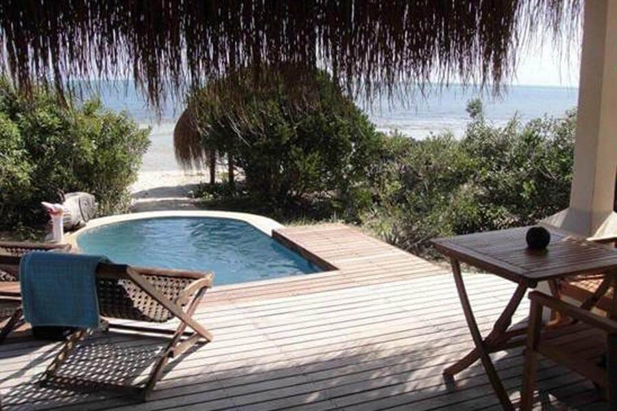 Azura Benguerra 008 beach villa deck and view