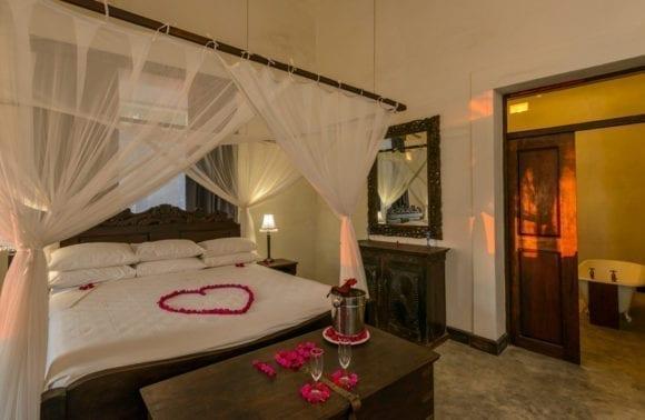 Honeymoon sunset turn down Kipira interior 2