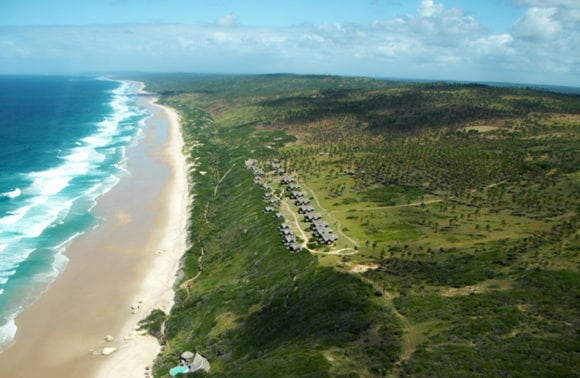 Massinga Beach 003 resort and beach aerial view