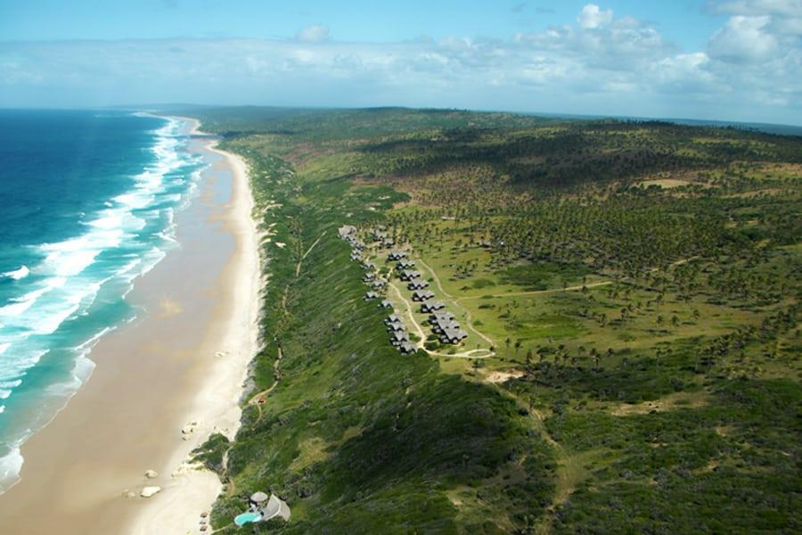 Massinga Beach 003 resort and beach aerial view