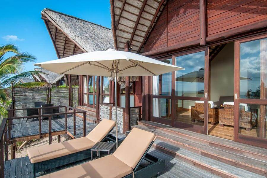 Massinga Beach - oceanview chalet deck
