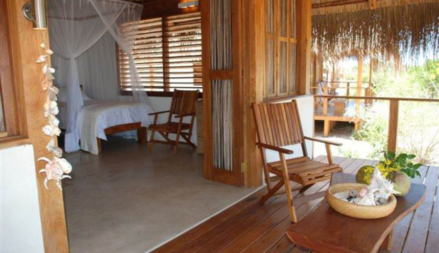 Rio Azul Lodge 003 Door and deck twin chalet
