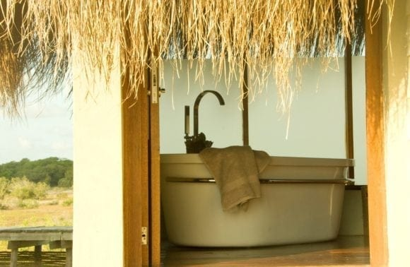 dugong beach lodge bathroom outside in 1 1