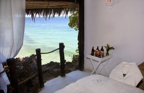 spa treatment room with sea view