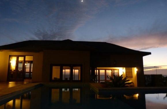 Blue Footprints Lodge 012 Lodge and Pool at night