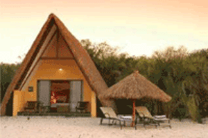 Chalet with loungers 1