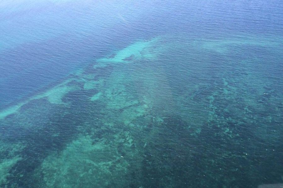 Situ island resorts Diving 003 water aerial view